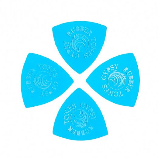Rubber Tones Gypsy Blue Silicone 4 Picks